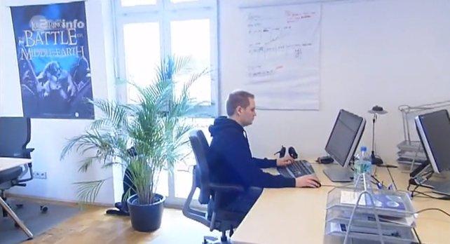 Dieser Blick in eines der alten Büros von spieletipps stammt aus einer Reportage über unsere Arbeit, die das ZDF 2010 produzierte. Bildquelle: ZDF