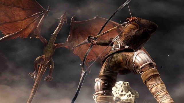 Ob der Bogen für den Drachen reicht?