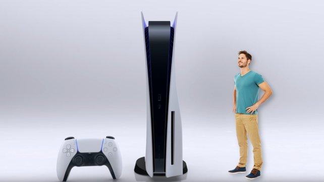 Auf viele Fans wirkt die PS5 noch größer, als gedacht. Bildquelle Getty Images/ pixdeluxe