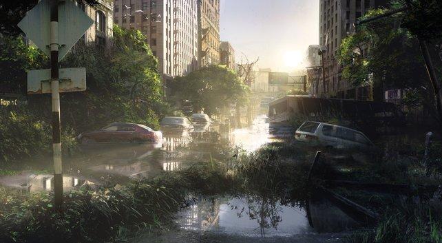 Schimmernde Wasseroberflächen, gleißendes Licht, tiefe Schatten. The Last of Us - Remastered macht optisch einiges her.
