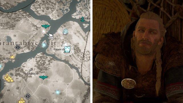 Die Karte euch zeigt den Standort von Fergal.