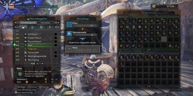 Rezepte und Kombinationen in Monster Hunter - World sind überlebenswichtig.