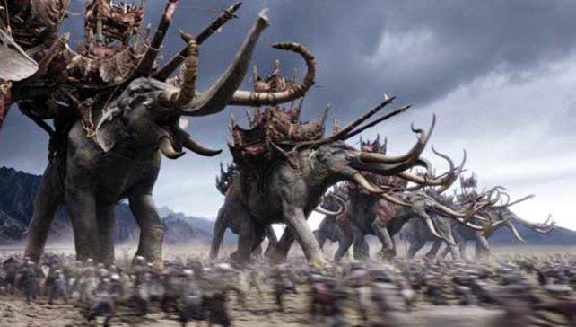 Die Schlacht um Gondor: Eine der imposantesten Action-Szenen der jüngeren Filmgeschichte. (Quelle: New Line Home Entertainment)