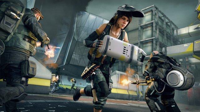 Einer flüchtet mit der Beute, der Rest des Teams gibt Feuerschutz. Dirty Bomb ist kein Spiel für Einzelgänger.