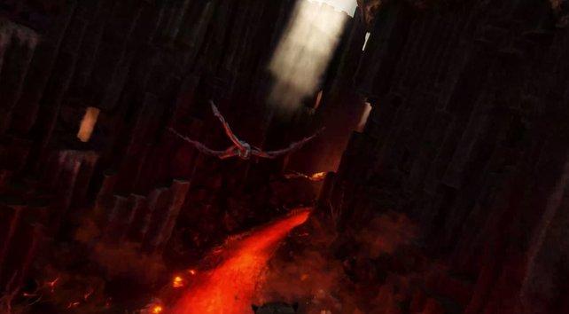 Die Drachenschlucht auf Scorched Earth ist voll mit heißer Lava! Seht euch also vor, wenn ihr die Nester nach Drachen-Eiern absucht.