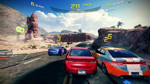 Android-basierte Spiele wie Asphalt 8 machen sich auch auf dem großen Bildschirm gut.