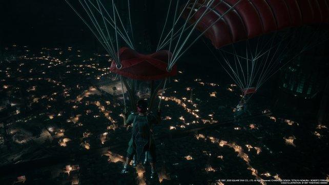 Dank der Fallschirme, die Jessie aufgetrieben hat, könnt ihr auch ganz ohne Zug oder Motorrad in die Slums zurückkehren.