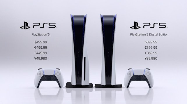 Das sind die Preise für die beiden PlayStation-5-Konsolen, die noch dieses Jahr erscheinen.