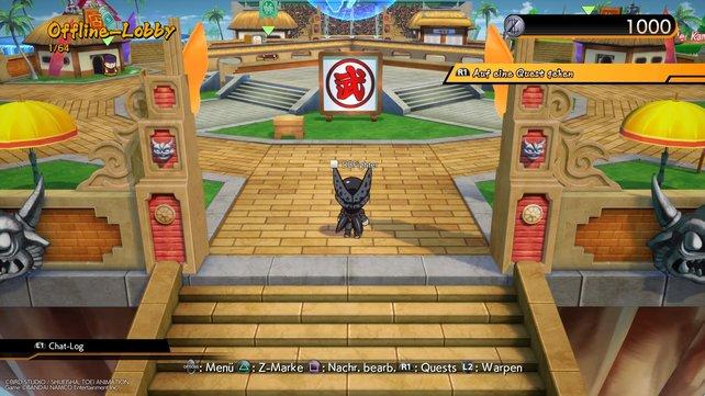 In der Lobby mit dem Mini-Cell: Von hier aus erreicht ihr alle Spielmodi.