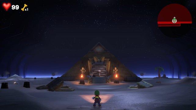 Ein Pyramidenausflug in einem Hotel? Luigi's Mansion 3 macht es möglich.