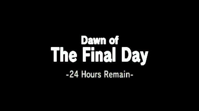 Der letzte Tag - euch bleiben also noch 24 Stunden in Termina-Zeit. In echter Zeit sind das 18 Minuten.