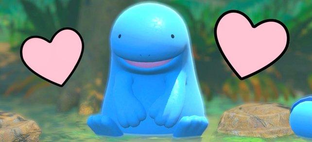 Ein Pokémon umgeben von Herzen – So werden wohl die meisten meiner Bilder in New Pokémon Snap aussehen.
