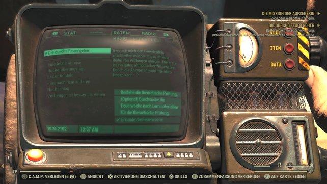 Die durchs Feuer gehen ist eine Quest bei Fallout 76. Schafft ihr die theoretische Prüfung, könnt ihr den Feuerteufeln beitreten.