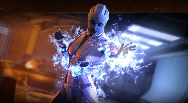 Liara T'Soni in Mass Effect 2.