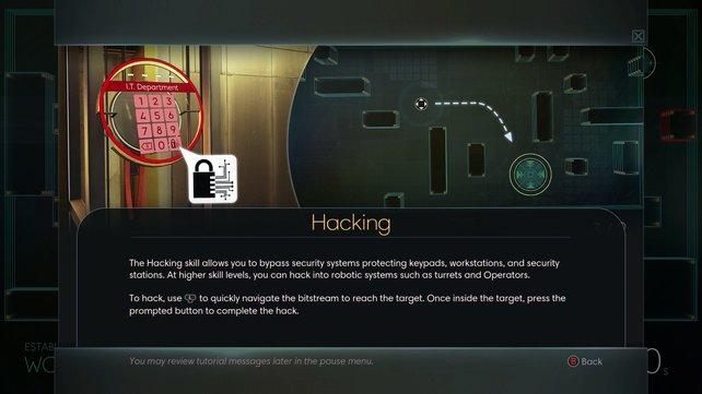 Das Hacken ist ein sehr wichtiger Aspekt des Spiels.