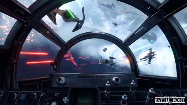 Die Kamera folgt euch ins sogenannte Cockpit, wenn ihr wollt.