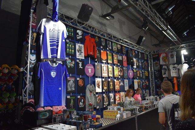 Merchandise-Stände gab es auch ein paar