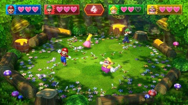 Das Grunderscheinungsbild der mittlerweile weit über tausend Mario-Party-Minispiele hat sich nie verändert. Verblüffende Ideen gibt es trotzdem noch immer zuhauf.