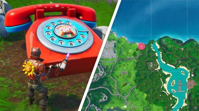 Die Koordinate E2 führt euch zum Telefon, mit dem ihr Pizza Hit anrufen könnt.