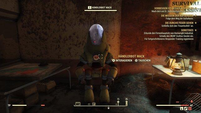 Im Südwesten der Map von Fallout 76 findet ihr Mack, der euch zum Beispiel Aluminium verkauft.