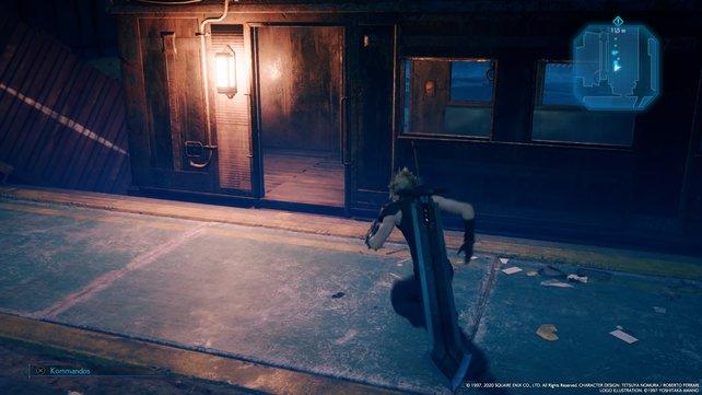 Folgt den Lichtern und durchquert die Waggons, bis ihr sie am hinteren Ende auf der rechten Seite verlassen könnt.