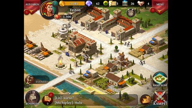 Das ist Sparta! Errichtet Häuser und Armeen, um Gegnern und Onlinespielern einzuheizen.