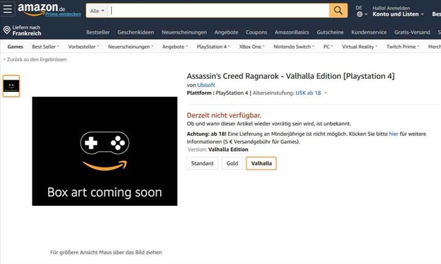 Dies ist der angebliche Screenshot von Amazon Deutschland, der den Leak zeigen soll.