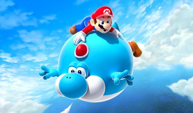 Immerhin in Super Mario Galaxy 2 lässt sich Yoshi wieder blicken - wieder nur selten, dafür mit neuen Verwandlungen im Gepäck.