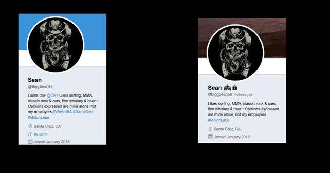 Wirklich bei EA angestellt oder nicht? Laut Kotaku gibt es Umstimmigkeiten, während Sean sein Twitter-Profil mittlerweile angepasst hat.