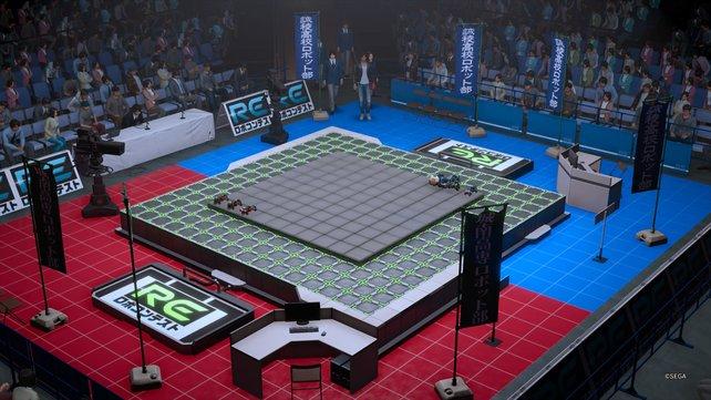 Bei den Robotikkämpfen könnt ihr mit euren eigenen Robotern antreten und die Gegner bei eurer Felderoberung zerstören.