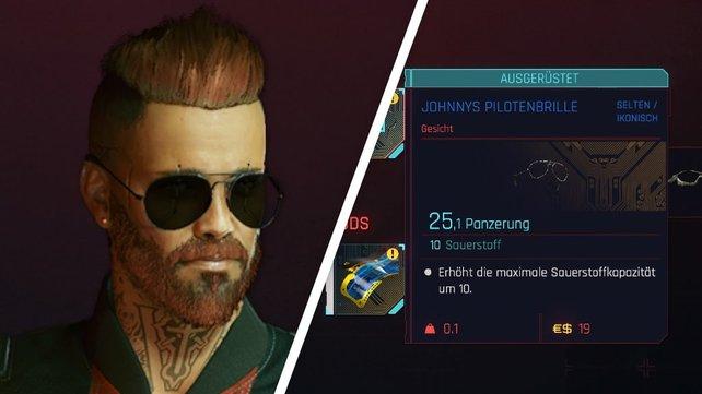 Die Werte von Johnnys Pilotenbrille.