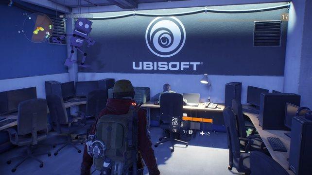 In diesem Easter Egg wurde ein Ubisoft-Büro zu einem sicheren Safehouse für Agenten.