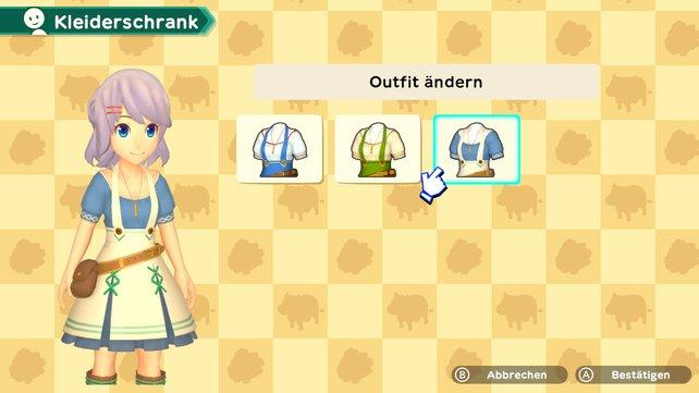Im Kleiderschrank könnt ihr eure neuen Outfits von Harvest Moon: Eine Welt sammeln und anziehen.