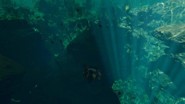 In Shadow of the Tomb Raider macht es eine große Freude, so richtig abzutauchen.