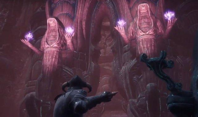 Haltet nach diesen Statuen Ausschau, denn sie markieren den Eingang zum Thronsaal.