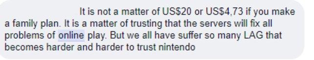 Ein Kommentar aus einer Facebook-Gruppe