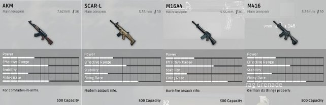 Die Automatikgewehre.