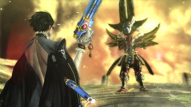 Da sitzt das Gesicht direkt im Schwert.