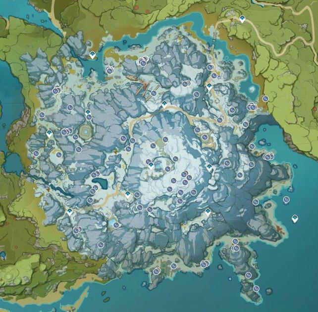 Auf dieser Karte seht ihr zahlreiche Fundorte des Sternsilbererzes.