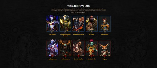 Alle freischaltbaren Völker in World of Warcraft: Shadowlands
