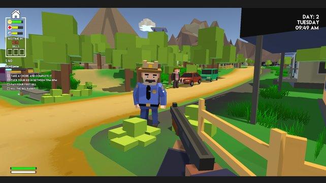 In Family Man treffen Minecraft und GTA aufeinander.