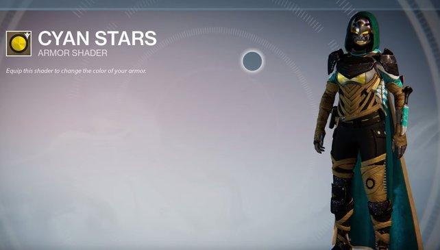Cyan Stars: Ähnelt den Shadern der Prüfungen des Osiris und ergänzt die Farbe Minzgrün.
