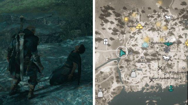 Die Karte zeigt euch Ysanes Standort.