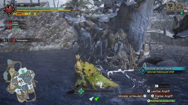 Das Monsterreiten wurde erweitert. Ihr könnt die Monster jetzt steuern und so sogar andere Bestien angreifen.