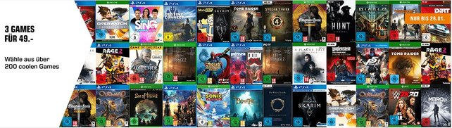 3 Top-Games für 49 Euro - Saturn bietet im Moment tolle Angebote.