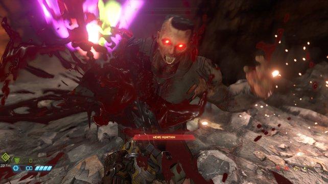 Gut gesägt ist halb gewonnen - das denkt der Slayer, nicht dieser Dämonensoldat.