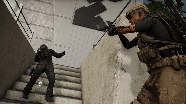 Oftmals reicht schon die Pistole, um euch gegen starke Gegner zur Wehr zu setzen.