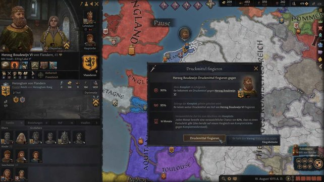Ein Druckmittel ist eine gute Art, um Gold in Crusader Kings 3 zu verdienen.