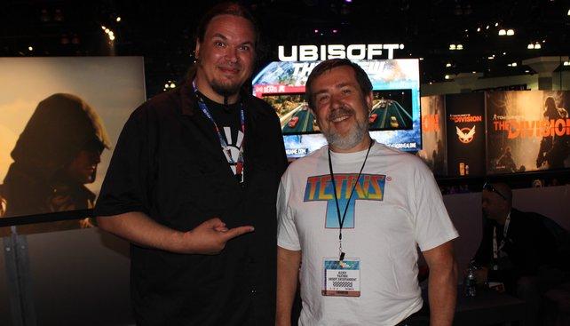 Onkel Jo in Los Angeles mit Tetris-Erfinder Alexei Paschitnow (rechts) im Juni 2014.