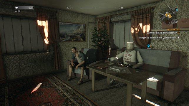 Die Welt von Dying Light ist voller skurriler Charaktere. Dorfdepp Gazi zum Beispiel hat seine Mutter aus Pappe nachgebaut.